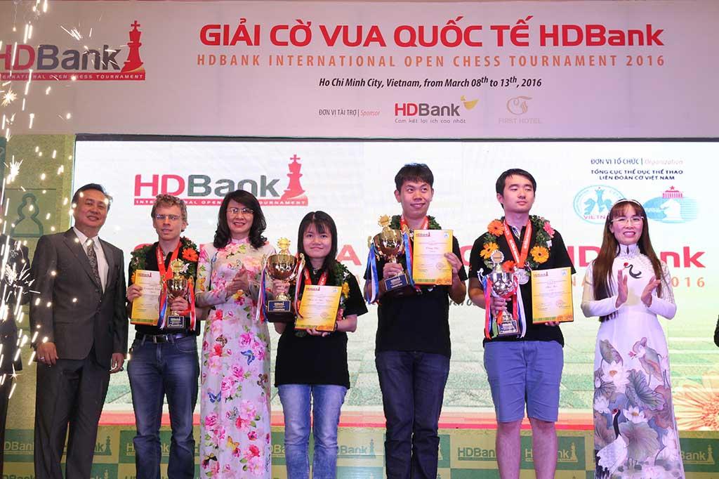 Giải cờ vua quốc tế HDBank 2016 kết thúc thành công