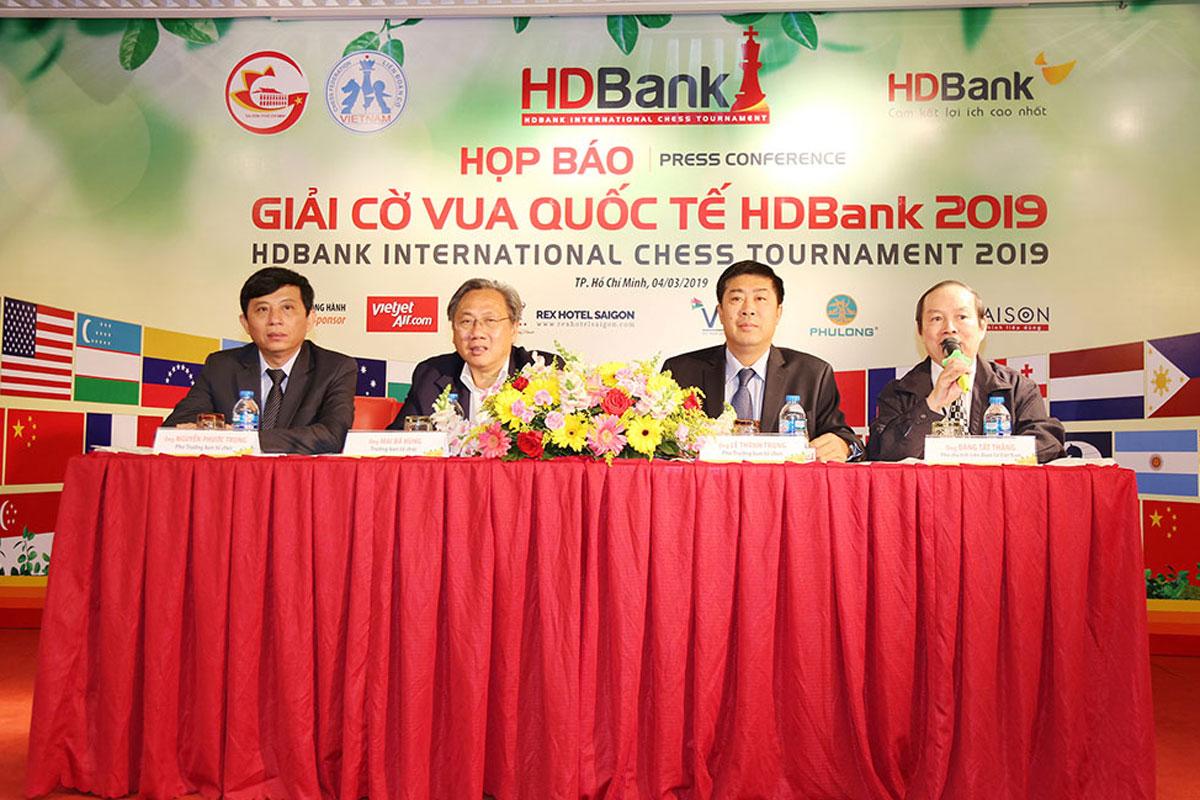 Họp báo giải cờ vua quốc tế HDBank 2019
